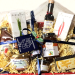 Hamper on table
